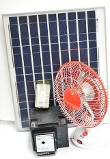 This is bundled with solar light and solar fan